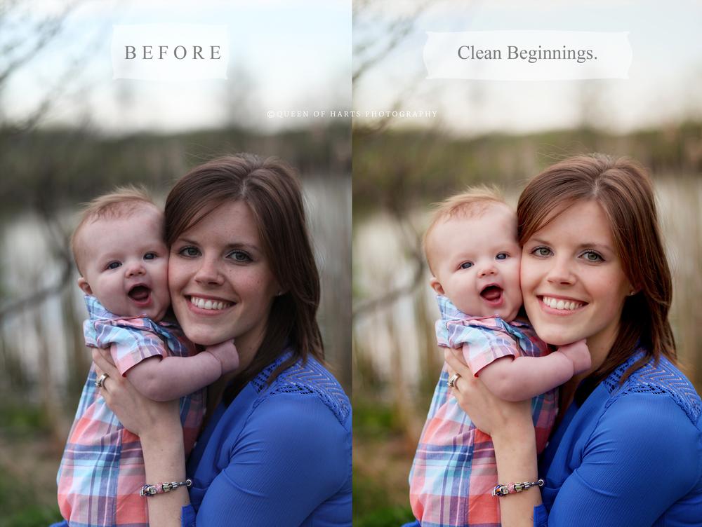 clean edit Photoshop actions