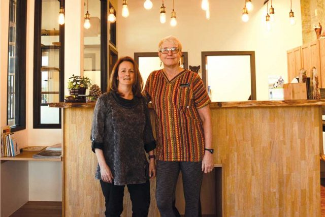 Barbara Slack-Bowden and Dr. Fern Slack, right, are co-founders of Boulder's sole feline-only veterinary clinic.