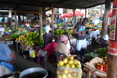 The local market in Inhambane.