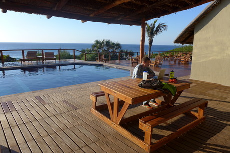 Doxa Beach Hotel, on Zavora Beach, about a 35 minute drive from Mozambique Organicos.