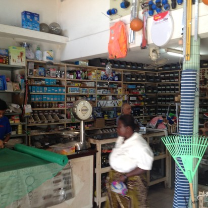 Hardware store in Inhambane, Mozambique, close to demo site.