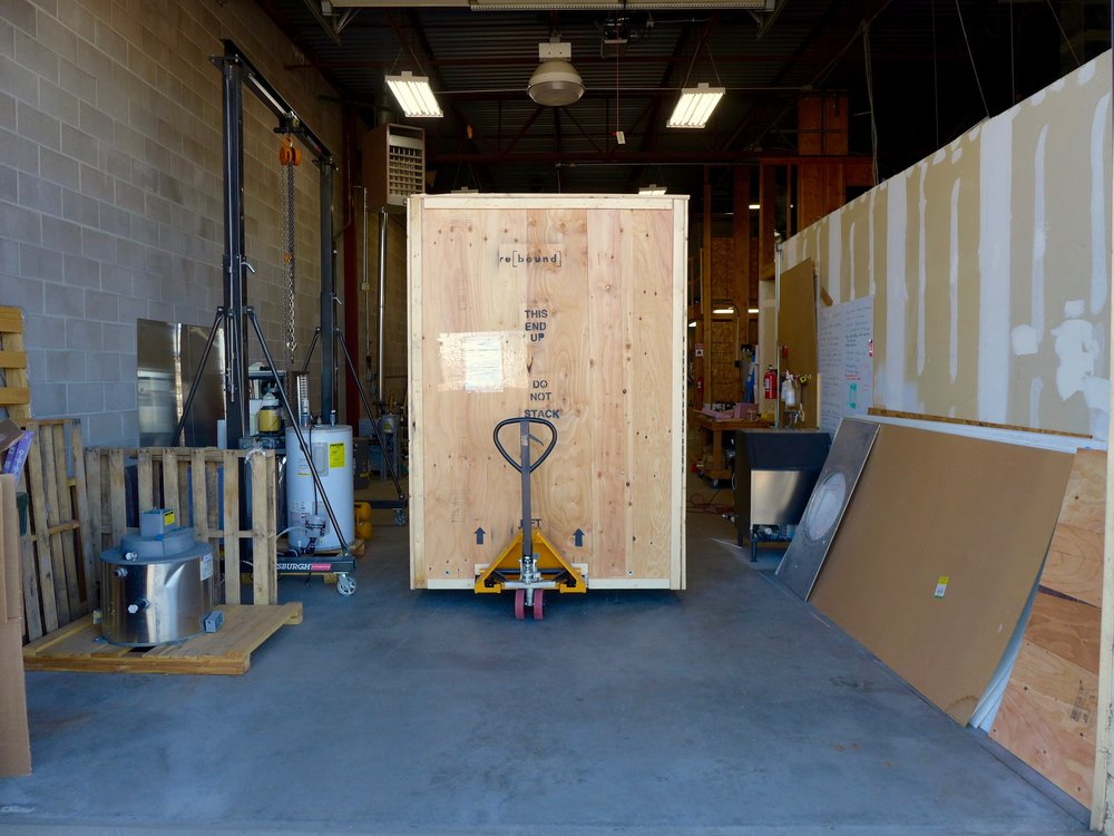 IcePoint™ all boxed up and ready to get on the truck.