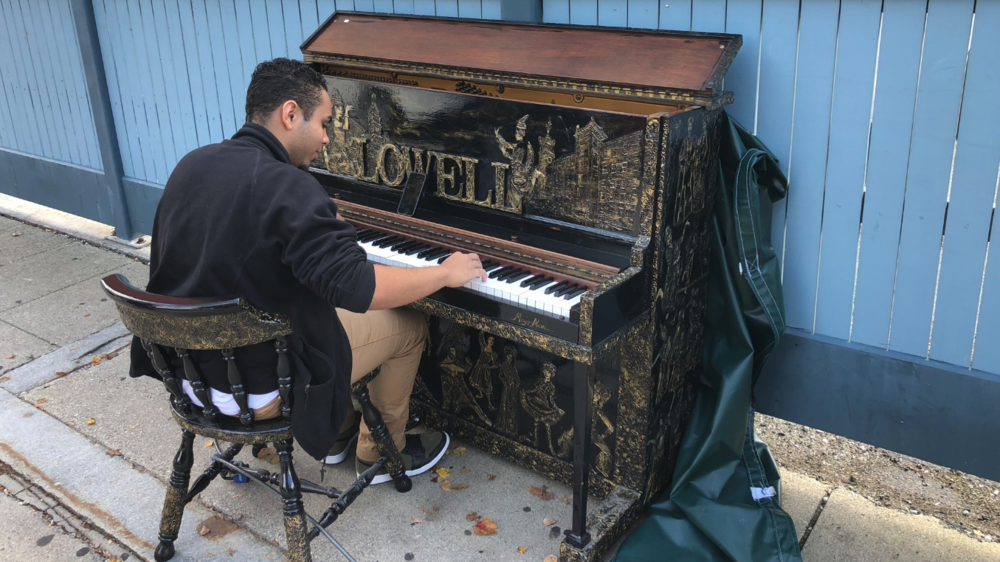 Lowell Street Piano. Art by Margo Thach (2018) - Photo Courtesy of Karen Frederick