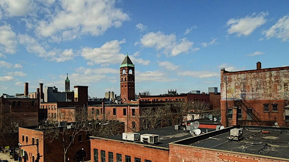 A view from the Roy (Market Street) Garage looking north—how many landmarks can you identify?