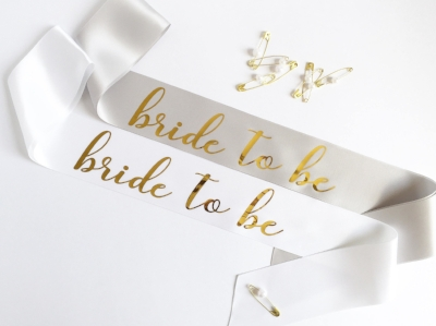 May 17 2017 Wedding Bachelorette Party Bride Sash Future Mrs Tutorial DIY Gold