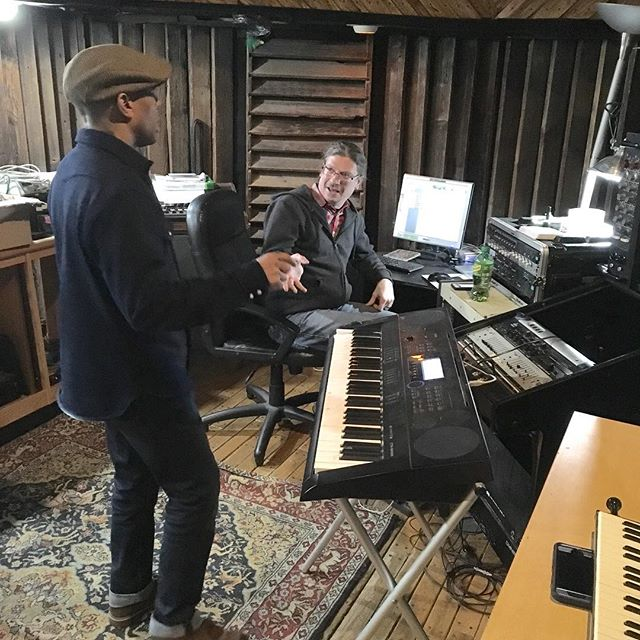 @the_red_stripes remix session is in full effect! @rudeboyroger1 @marcoonthebass #remix #reggae #studio #studiolife @rudeboygeorgeband #rudeboy #nycska