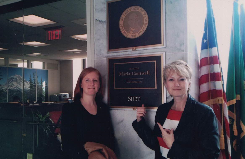 With Rachel E. Kurtz at Sen. Maria Cantwell's office