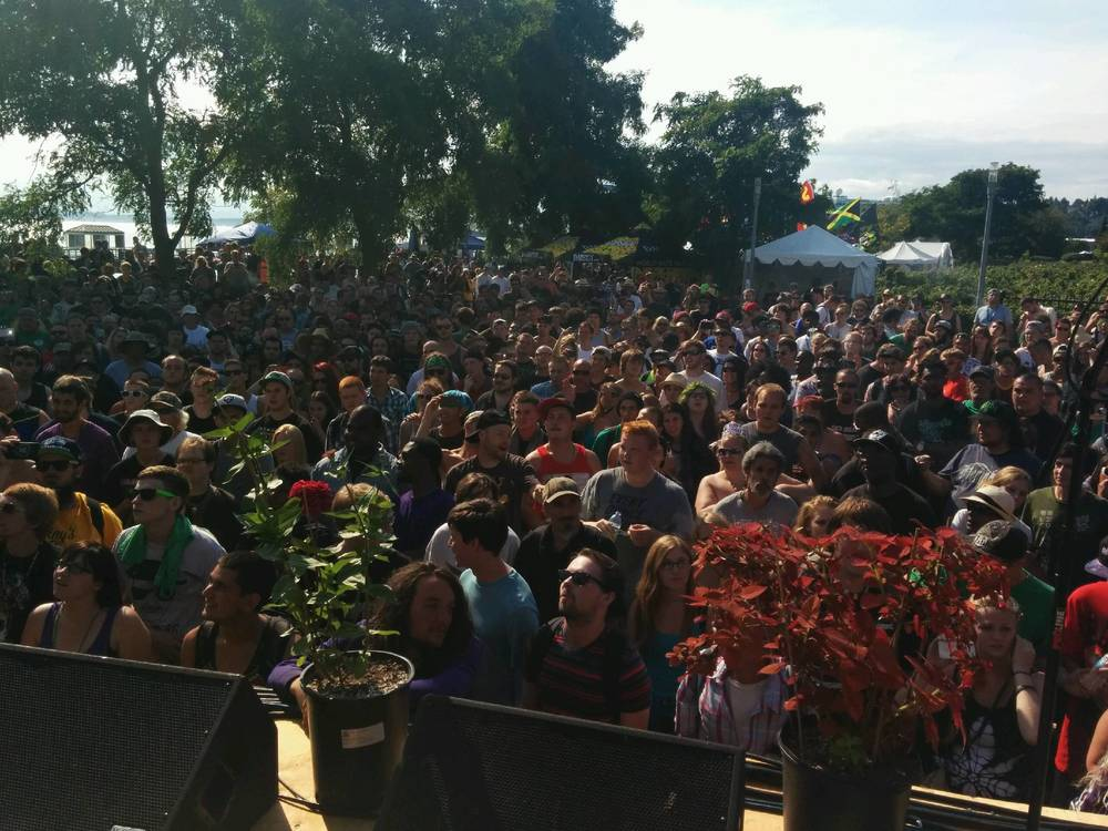 View from the stage at HempFest 2014