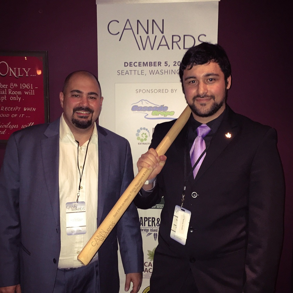 Ryan Fingerhut and Ramsey Doudar at 2015 Cannawards