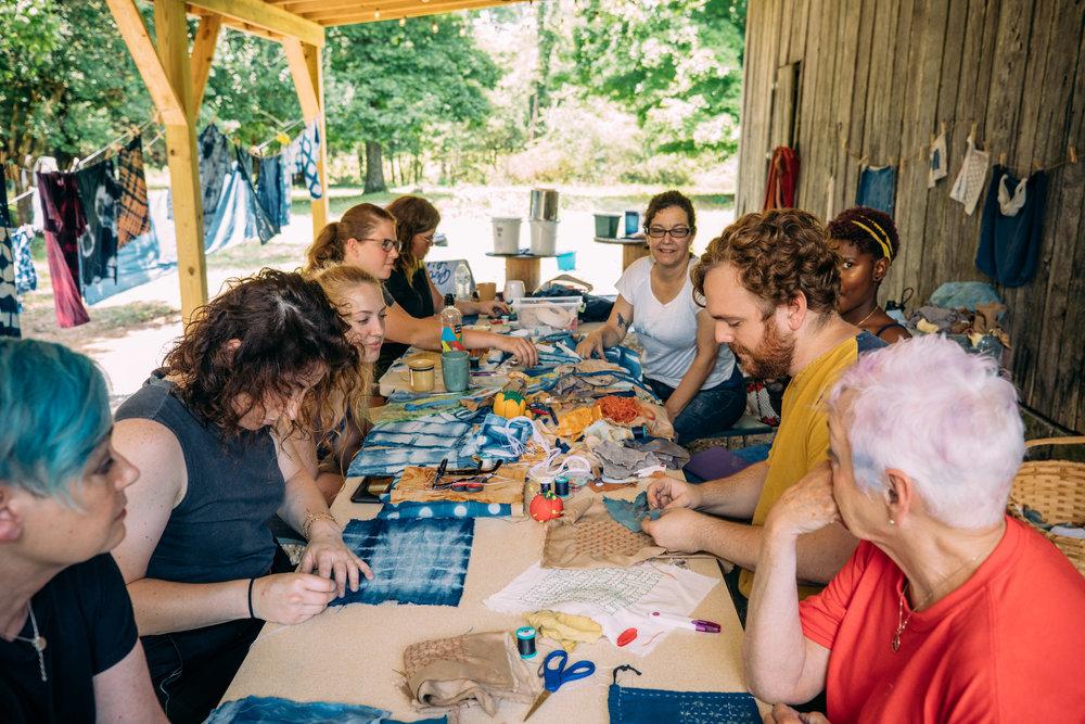 Stitching Instruction. Photo by Grace Boto
