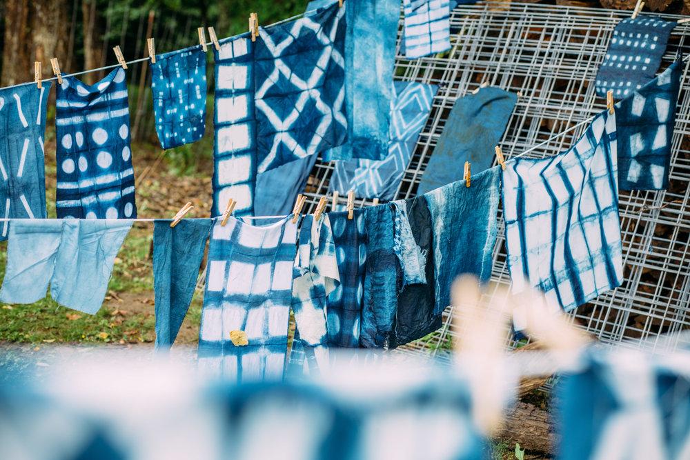 Aaron Sanders Head Indigo Dyeing Workshop