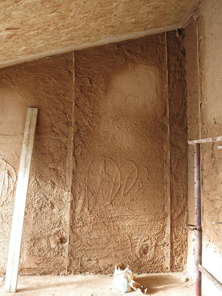 dettaglio intonaco in argilla
