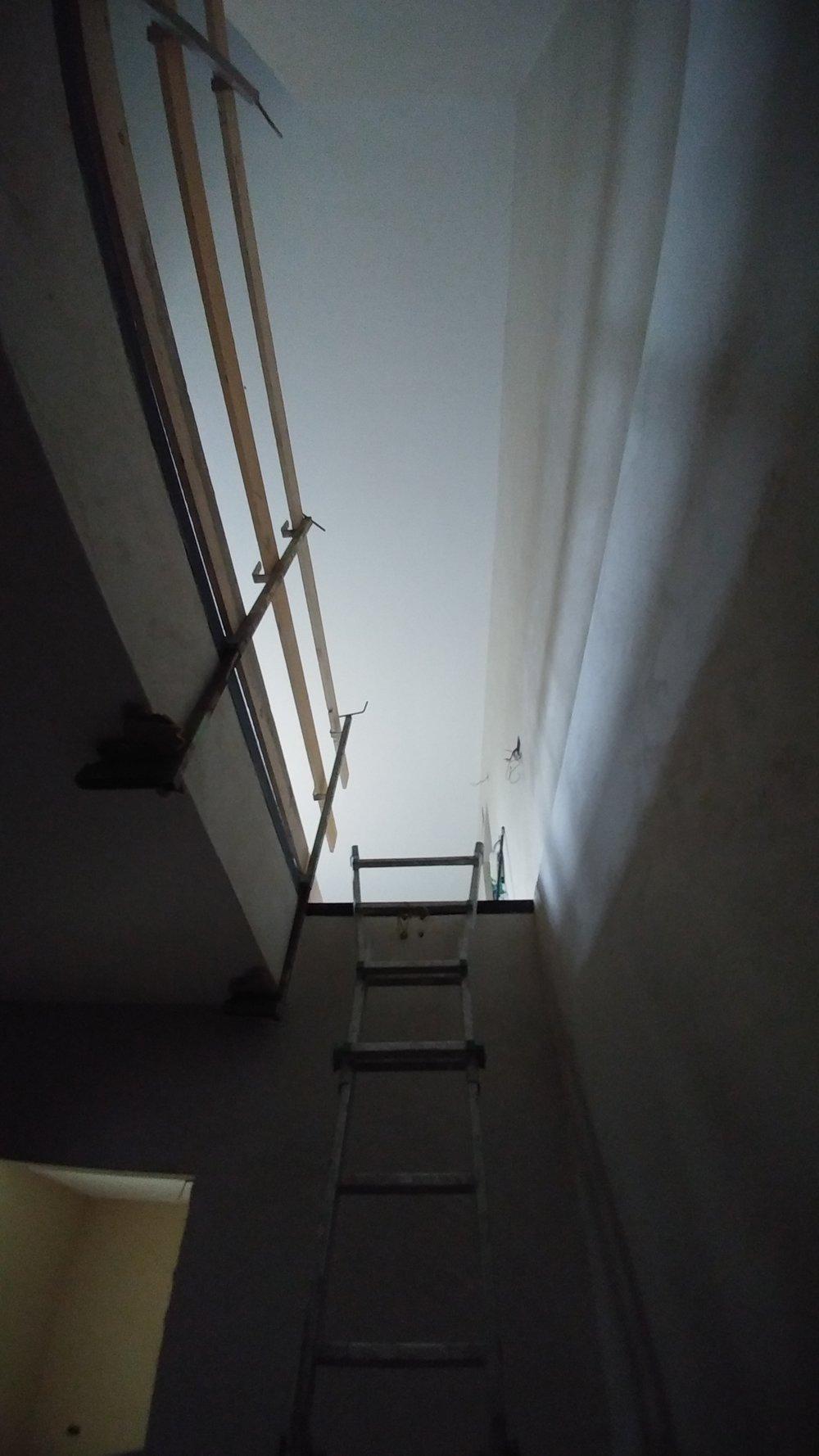 Il soggiorno visto dal basso