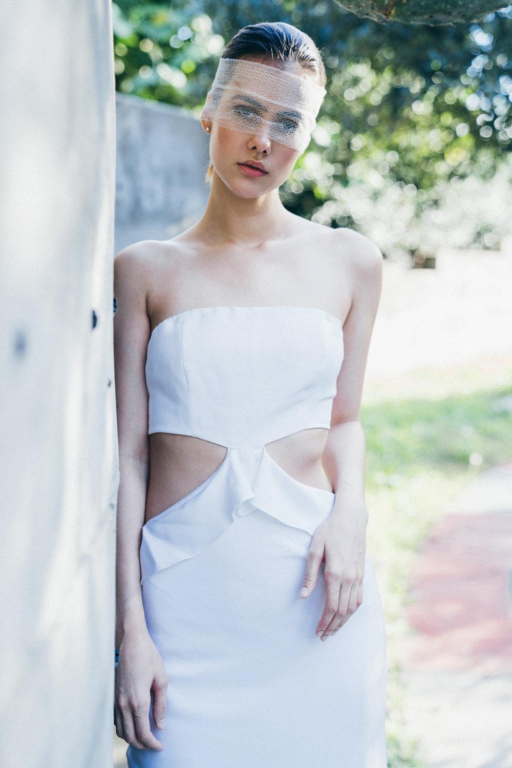 FERRAHGalene Silk Bias-Cut Gown