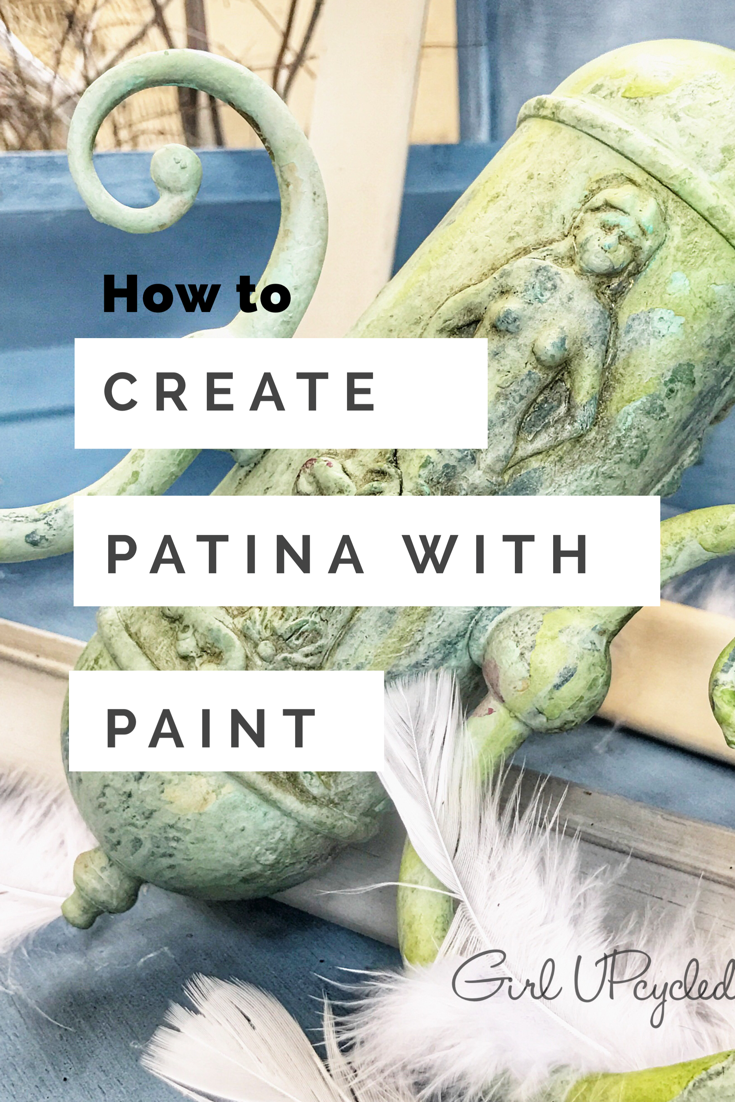 Create decorative details with clay and create your own oxidized Patina with Chalk Style paint!