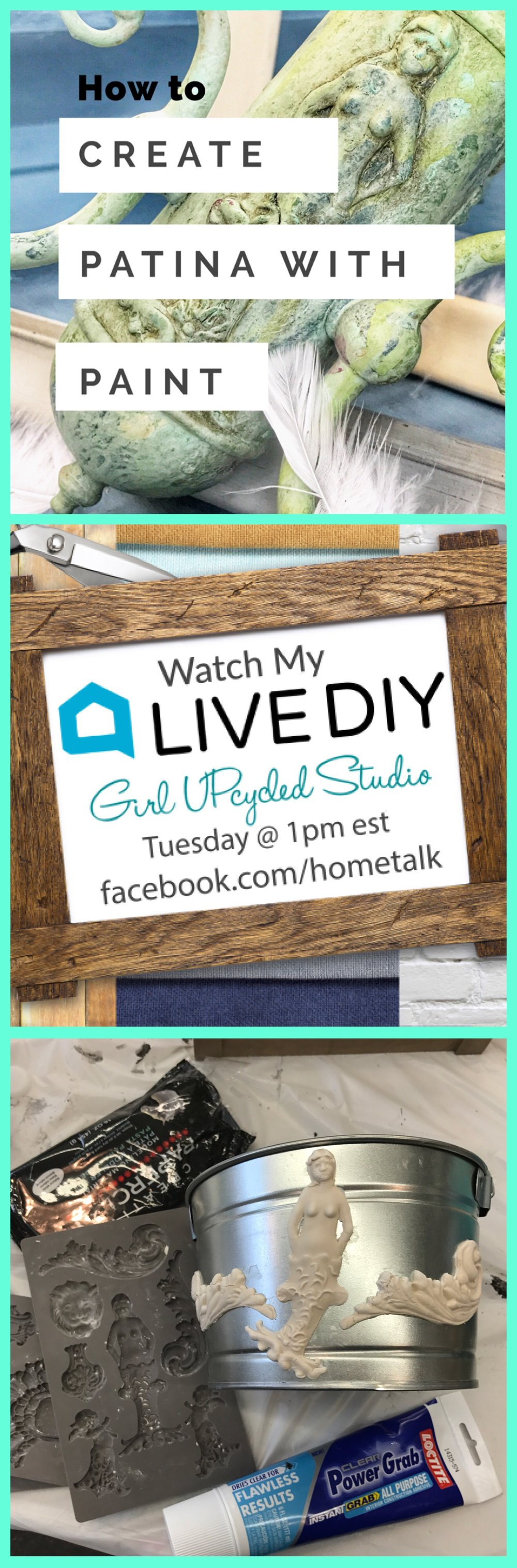 Watch march 7 at 1:00 on Hometalk FB live!!!  giveaway too!!!