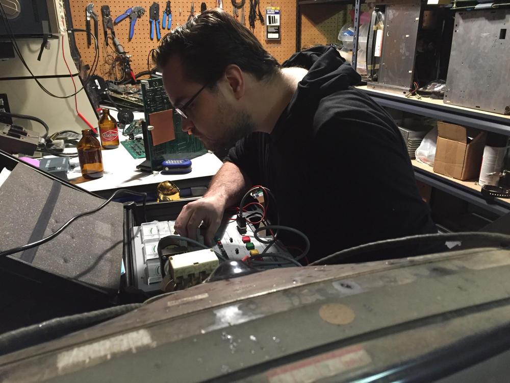 Ian rejuvenating a monitor for Bad Brian.