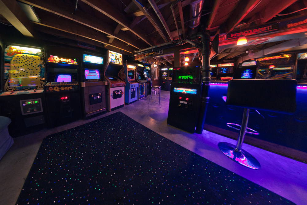 I told you it was lavish. One view of the many, many awesome games in the Barthcade.