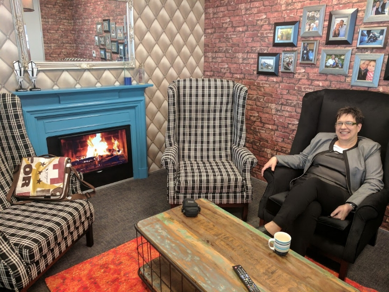 Now that's a meeting room to record in - Amanda at the Tekron offices in Lower Hutt