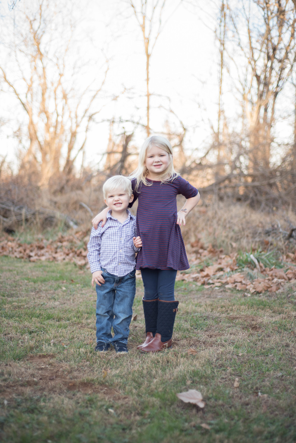 My future daughter-in-law! And her adorable brother, Rowan.