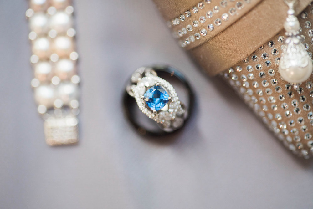 Blue Wedding Ring | Maryland, Washington DC, Pennsylvania, Virginia Wedding Photographer | Anne Casey Photography