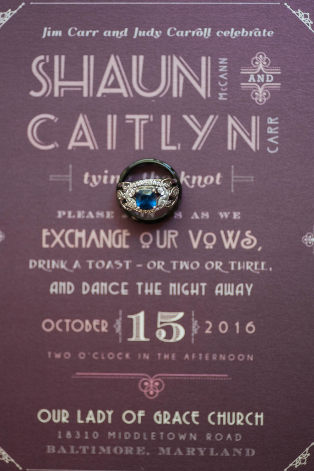 Invitations and Wedding Bands | Maryland, Washington DC, Pennsylvania, Virginia Wedding Photographer | Anne Casey Photography
