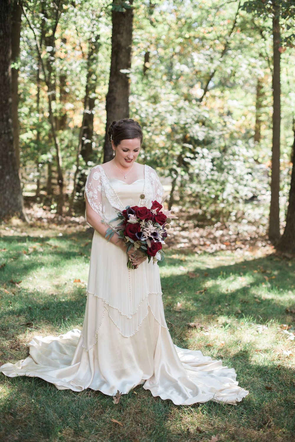 Bride with Bouquet | Maryland, Washington DC, Pennsylvania, Virginia Wedding Photographer | Anne Casey Photography