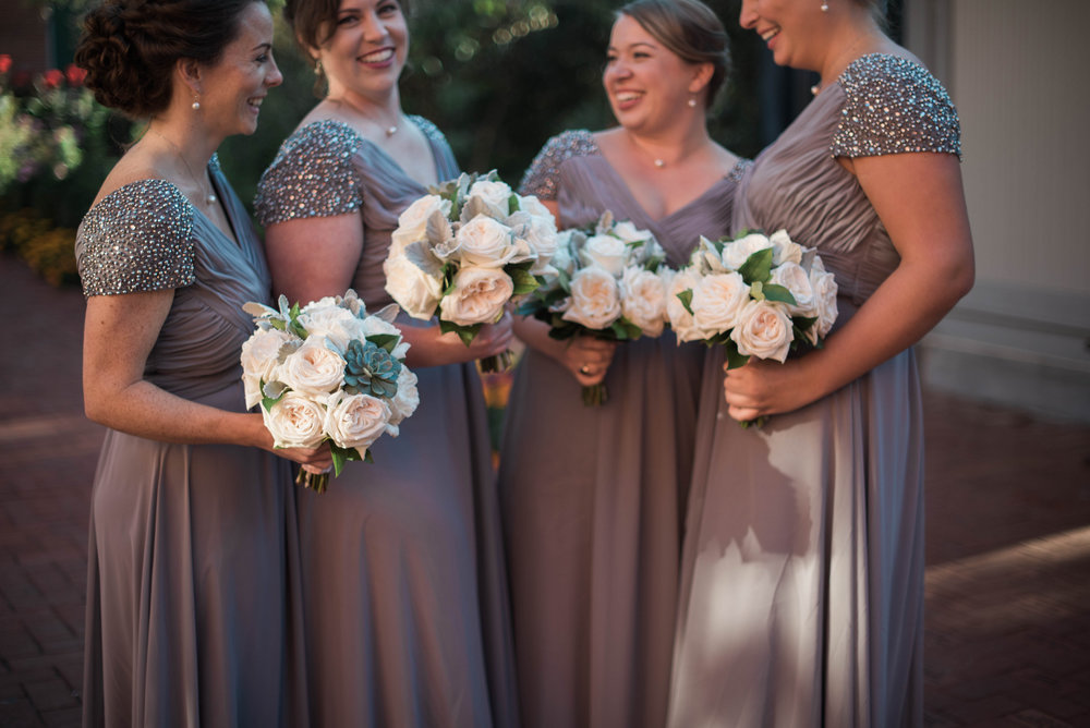 Bridal Party with Bouquets | Maryland, Washington DC, Pennsylvania, Virginia Wedding Photographer | Anne Casey Photography