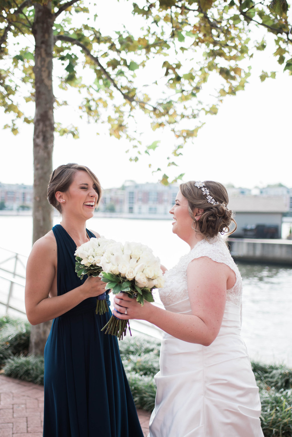 Bride and Bridesmaid | Maryland, Washington DC, Pennsylvania, Virginia Wedding Photographer | Anne Casey Photography