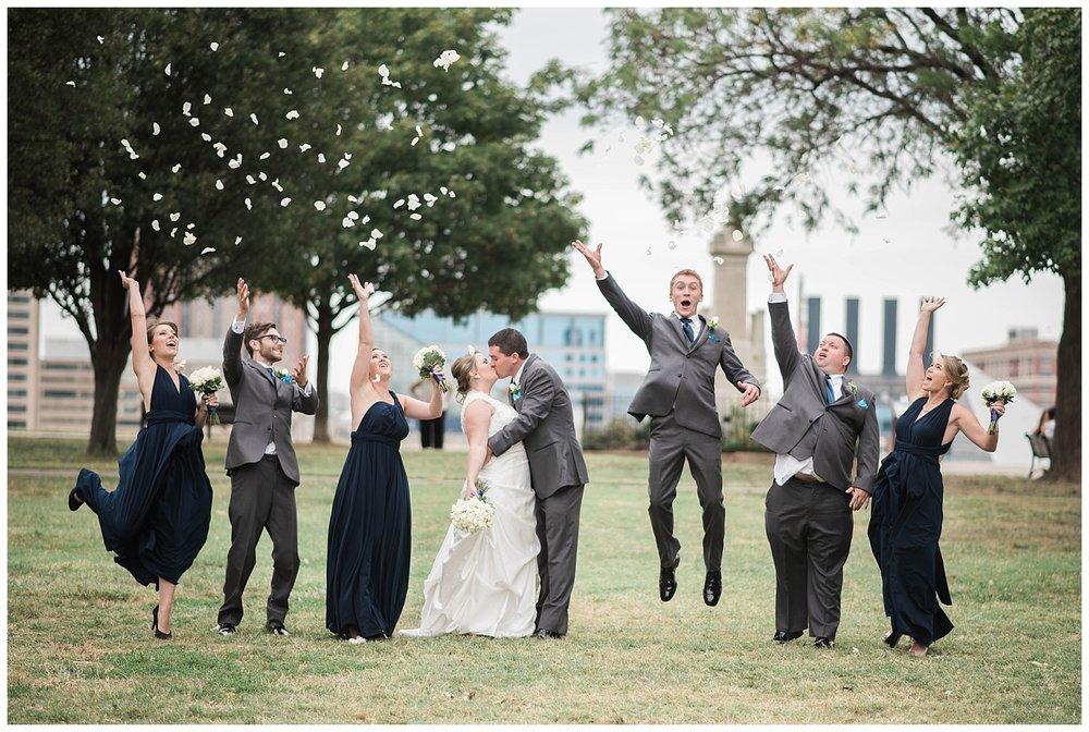 bridal party jump