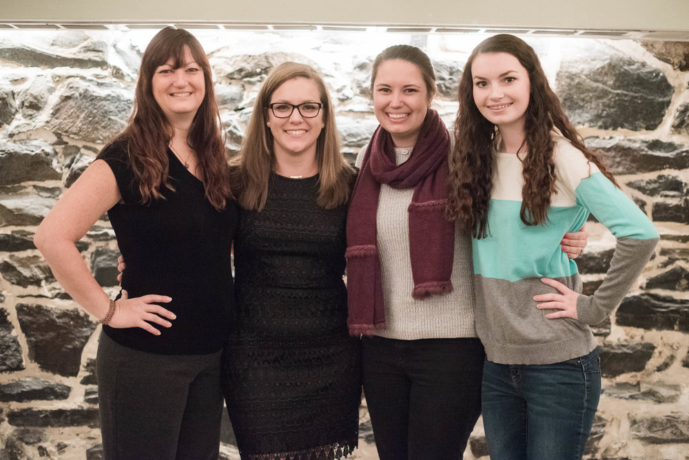 Me with the Enchanting Event and Design ladies! We are so grateful to have Jeanne, Macy, and Emily in our lives!