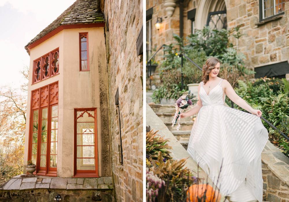 Michael-Auburn-Cloisters-Castle-Fall-Wedding-stone-steps.jpg