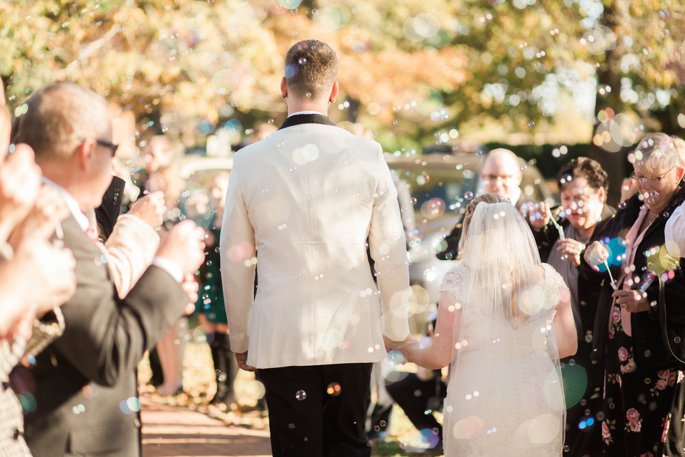 Saint Marys  Church Wedding Bride and Groom