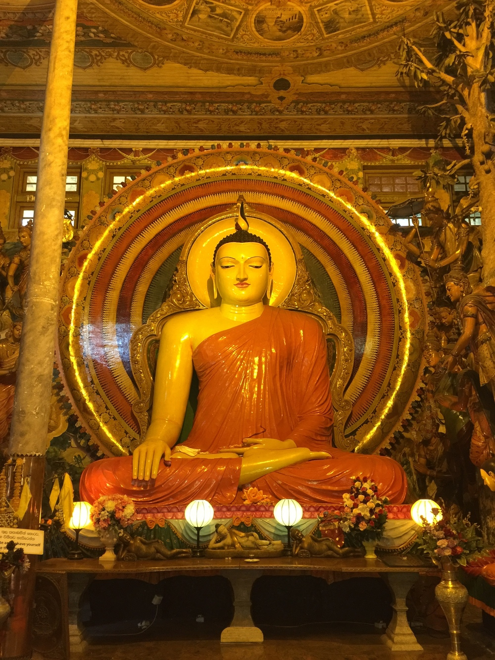 One of the amazing Buddha statues in this temple.