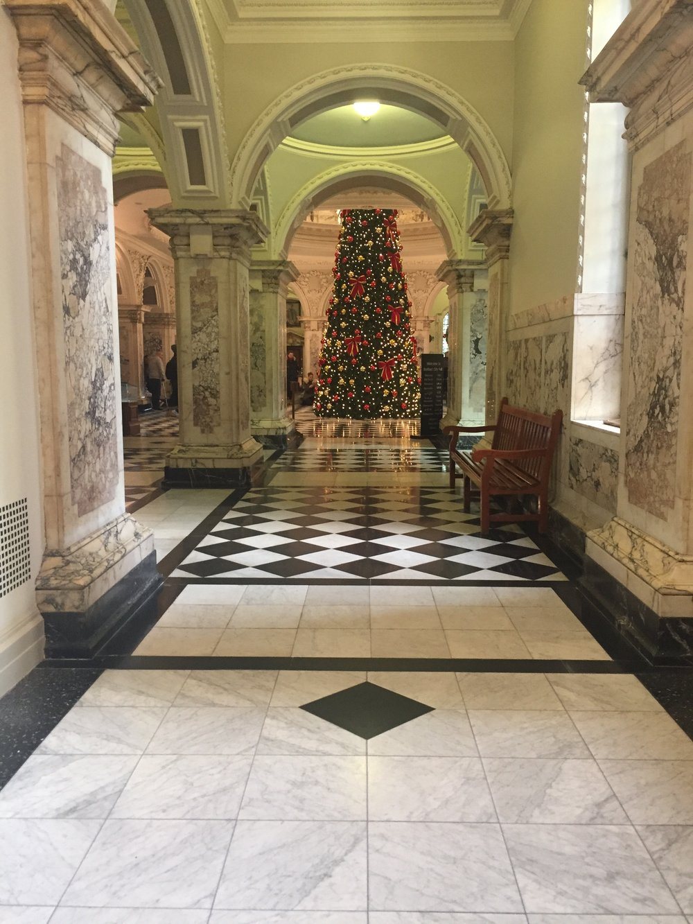 Rare person free pic of the Christmas Tree at Belfast City Hall
