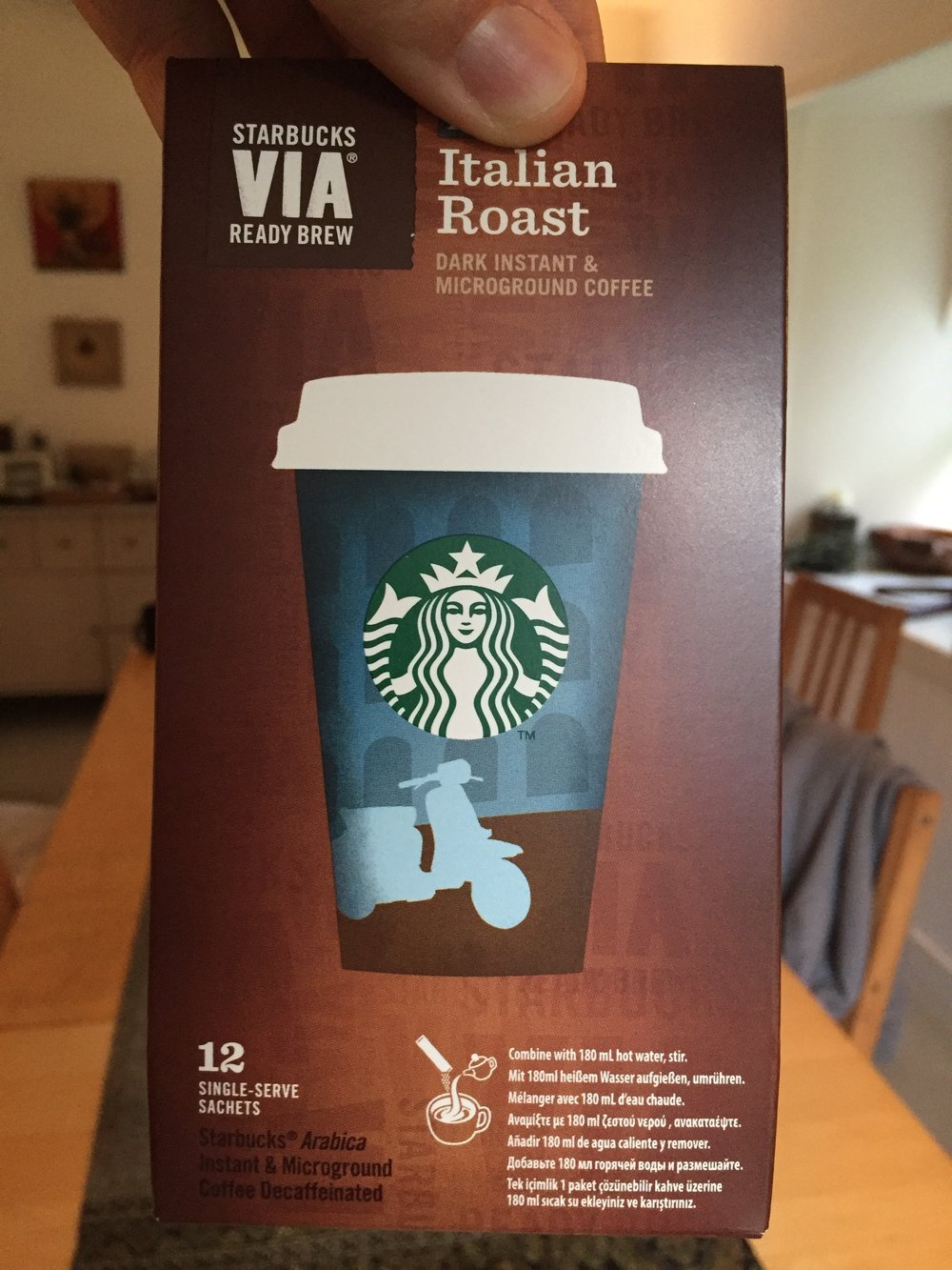 Favorite Travel Product - Starbucks via