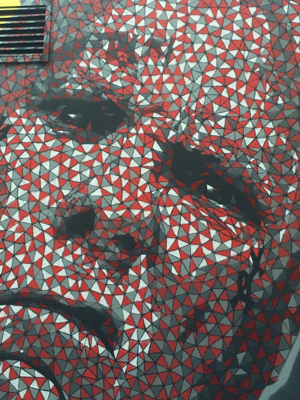 Street Art Belfast Pixel Angry Man