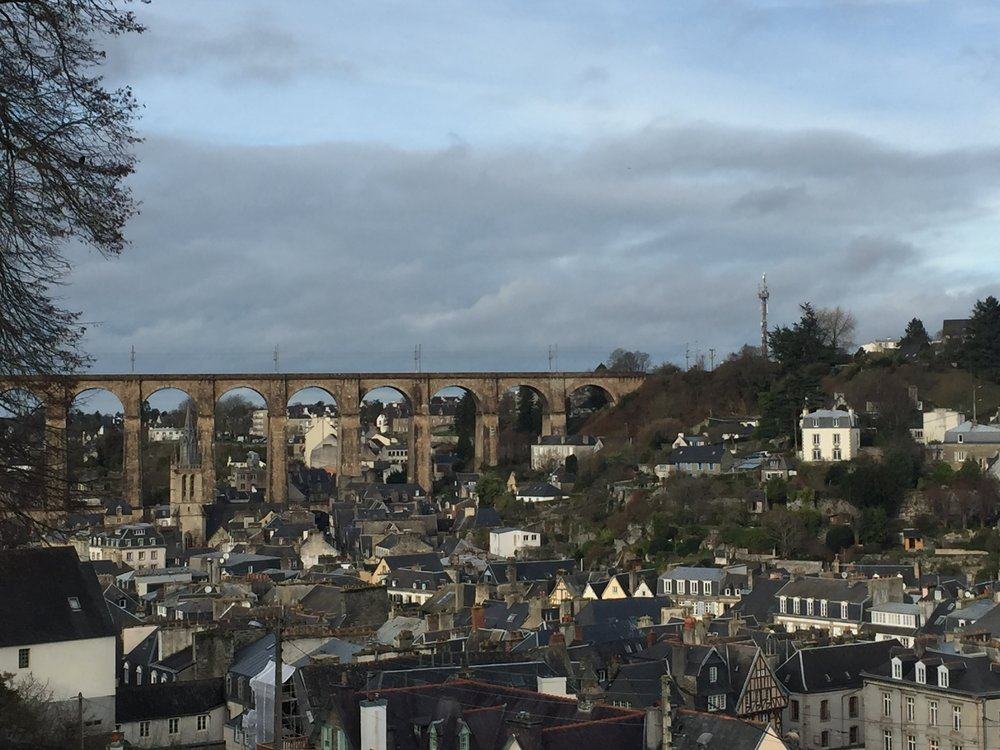 Morlaix Viaduct in the Distance