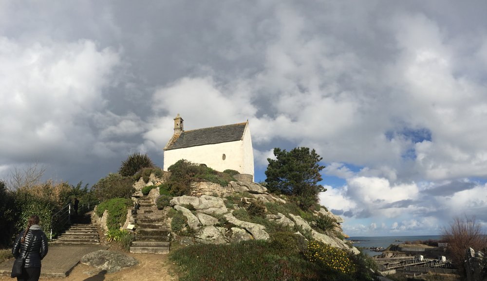Chapelle Sainte Barbe with incoming storm