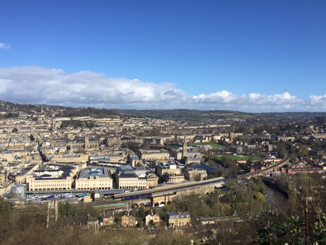 Free views in Bath, England from Alexandra Park
