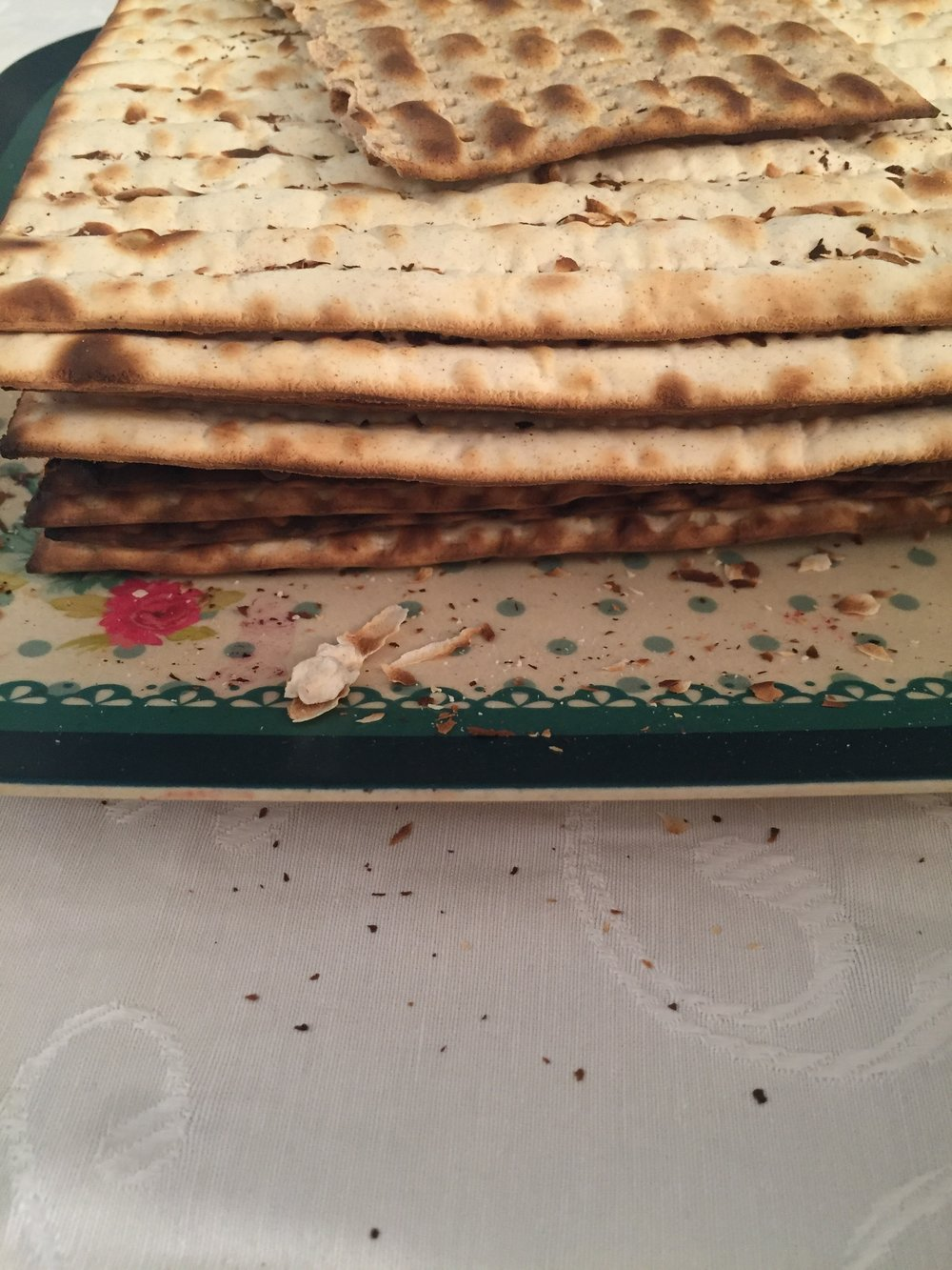 Matzah at the Passover Seder