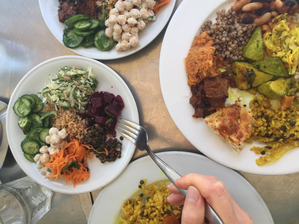 Food and Restaurants We Loved Tel Aviv: veggies at Birenbaum Cafe!