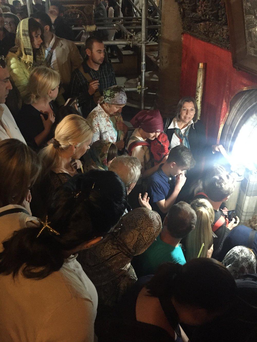 Intrepid Urban Adventures Bethlehem Tour Church of Nativity Crowd