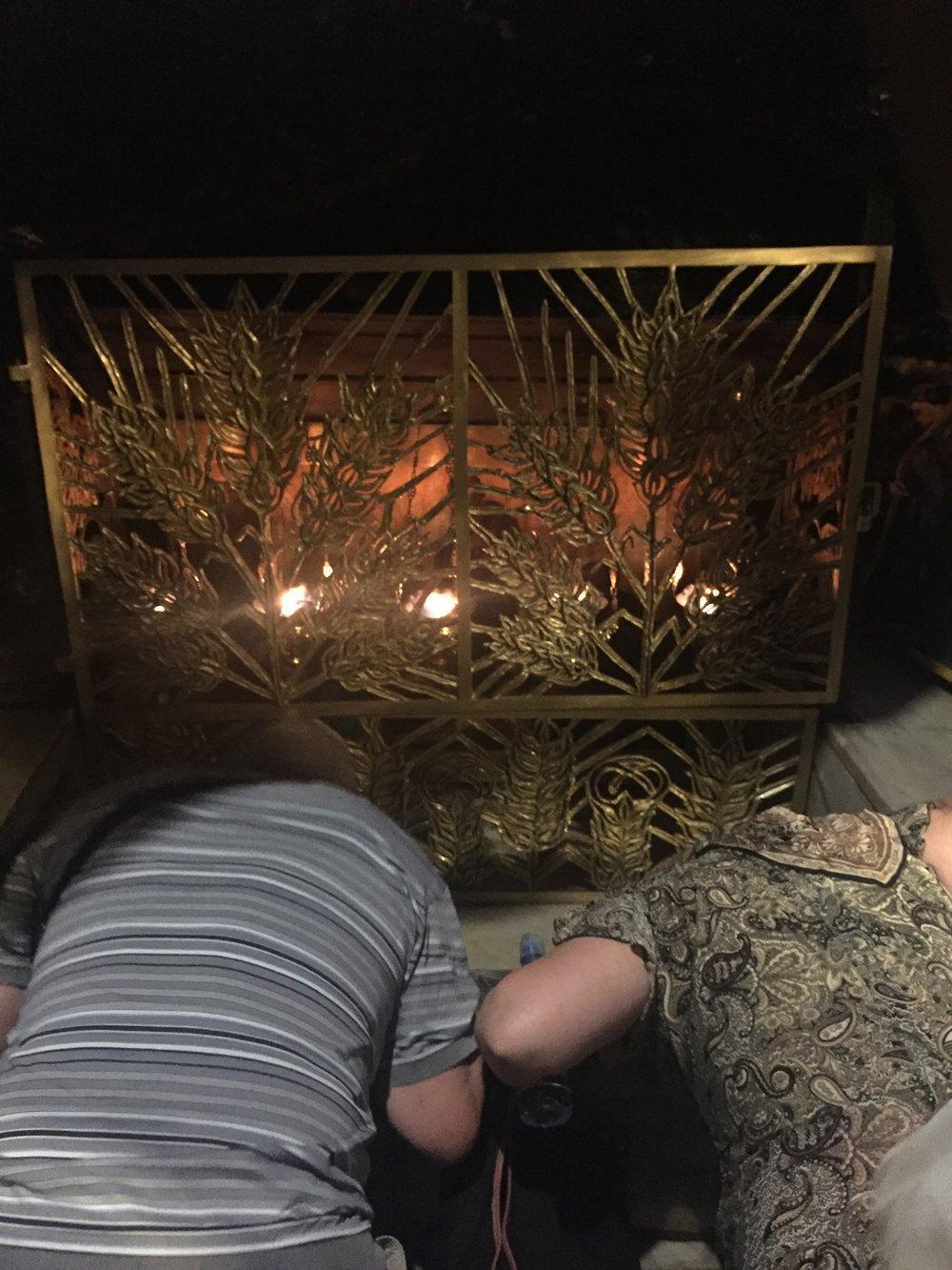 Intrepid Urban Adventures Bethlehem Tour Church of Nativity Prayer