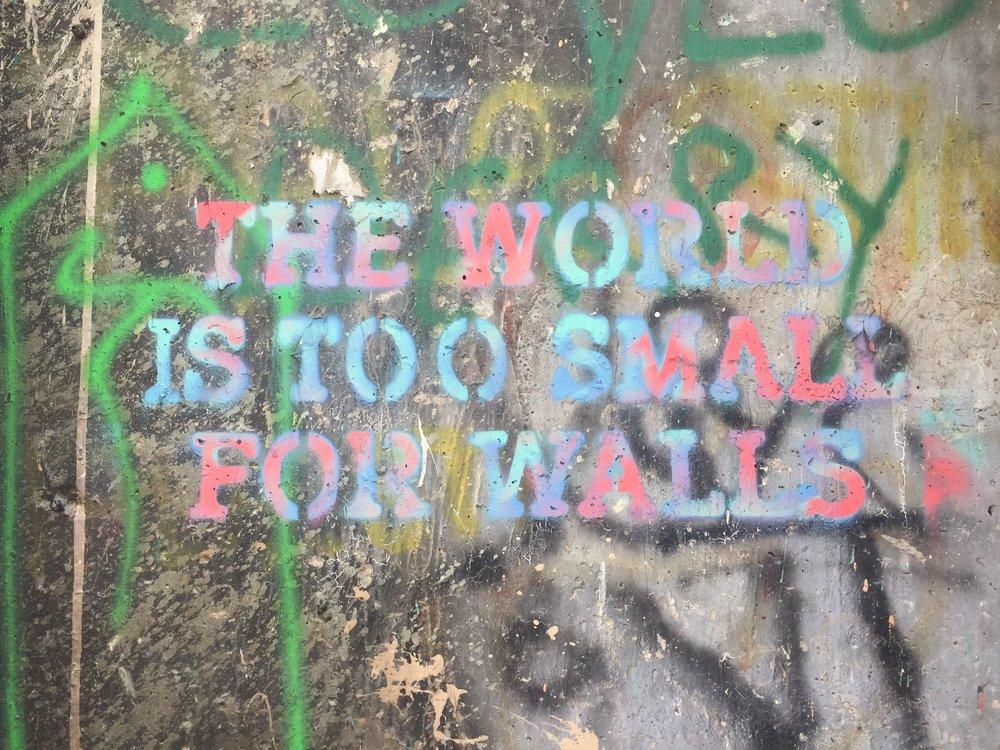 Graffiti on the Palestinian Wall