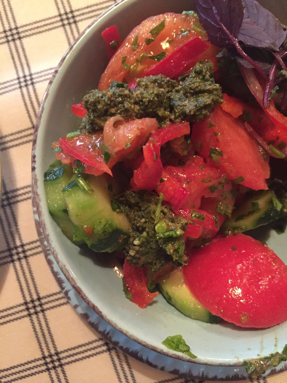 Tomato & Cucumber Salad!