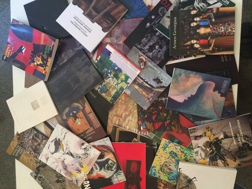 You can peruse the books on the various featured artists at the Modern Art Museum in Yerevan