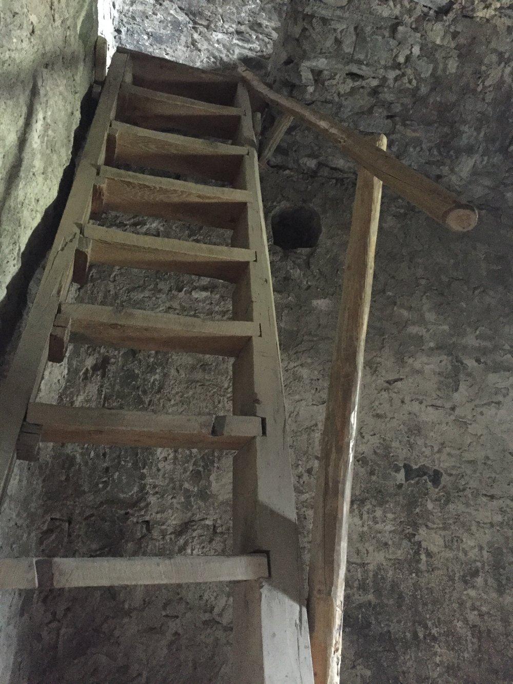 Ladder inside the Svan tower