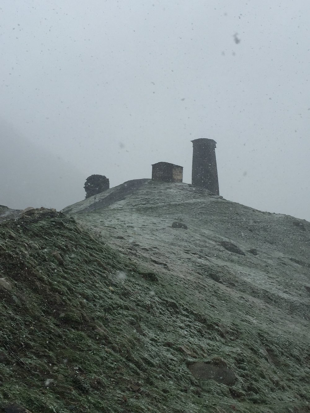 The snow was falling on Ushguli