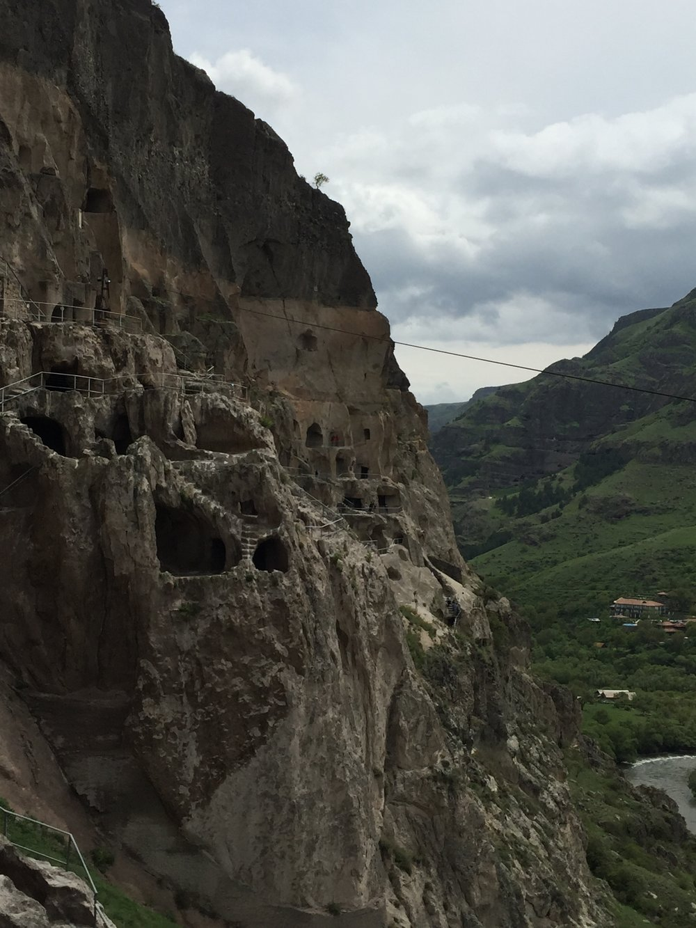 Outside view of Vardzia cave city